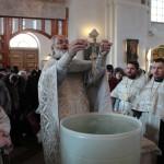 В соборе совершено освящение воды