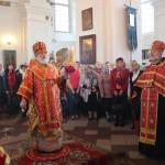 Митрополит Минский и Слуцкий Павел возглавил богослужение в соборе