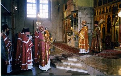 Асвячэнне сабора Мітрапалітам Мінскім і Слуцкім Філарэтам, 1999 г.