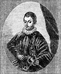 Князь Юрый Алелькавіч. Гравюра А. Зубчанінава. 1890 г.