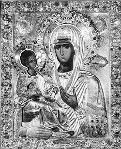 Икона Божией Матери, именуемая «Троеручица»