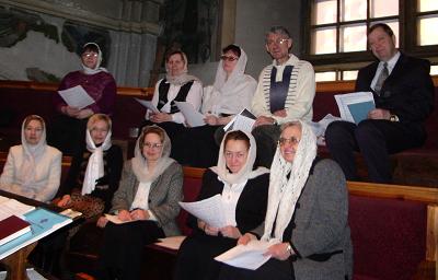 Брацкі хор на святочнай ранішняй літургіі